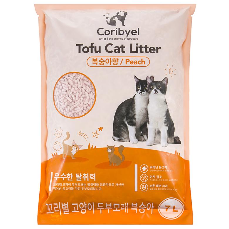 쿠팡 브랜드 - 꼬리별 프리미엄 고양이 두부모래 7L