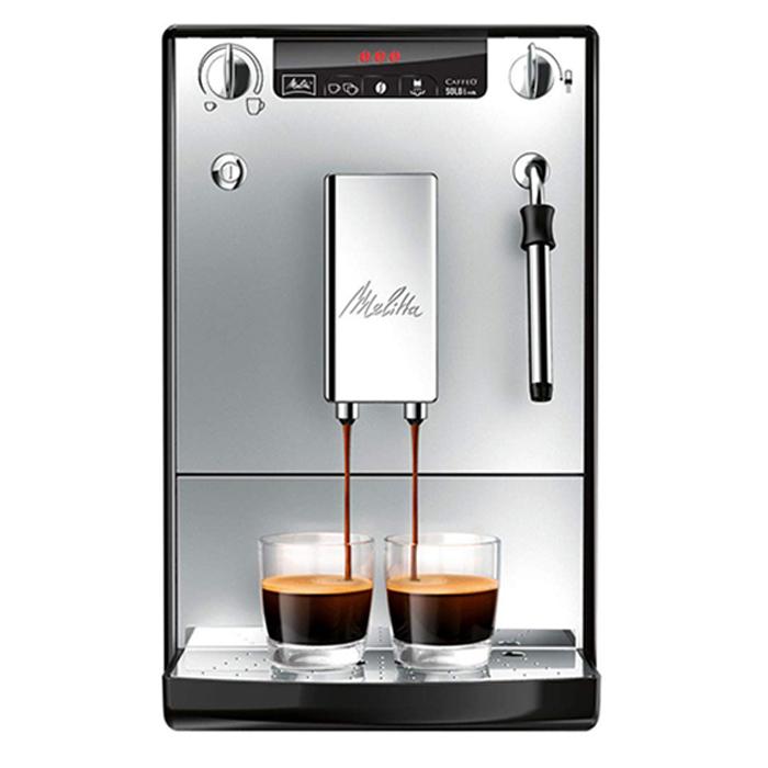 밀리타 카페오 솔로 앤 밀크 커피머신, E953-102(실버)
