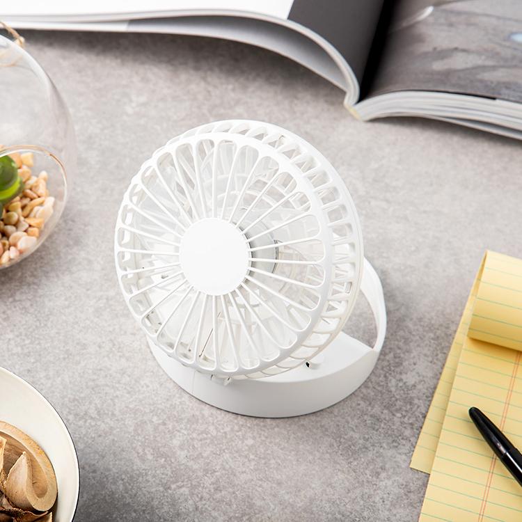 홈플래닛 탁상용 휴대용 선풍기, 화이트