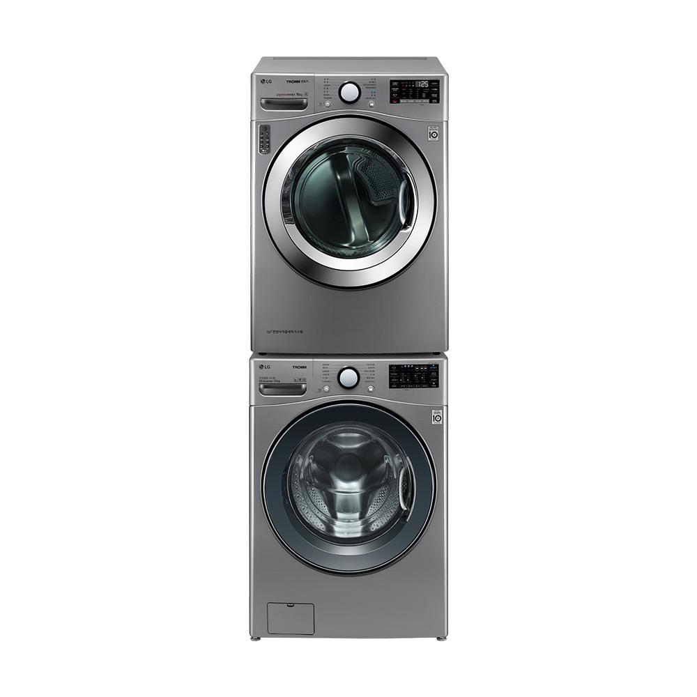 LG전자 세탁기 F21VDU 21kg 방문설치 + 건조기 RH16VNAN 16kg 방문설치 세트, F21VDU, RH16VNAN