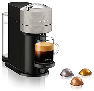 Marke: Nespresso 크룹스 네스프레소 버츄오 넥스트 Krups XN9108 Nespresso Vertuo Next 커피 캡슐 머신 1.7 리터 물탱크 바코드로 캡슐 인식 독일출고-535309, 02.밝은 회색
