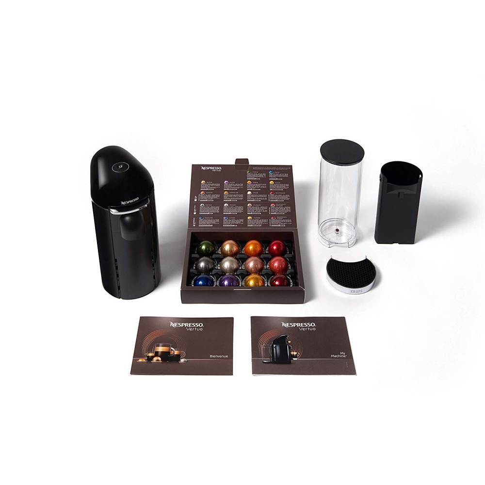 네스프레소 버츄오 플러스 커피 머신 XN9008 Vertuo Plus + 12가지 캡슐 웰컴팩, XN9008 Vertuo Plus 블랙