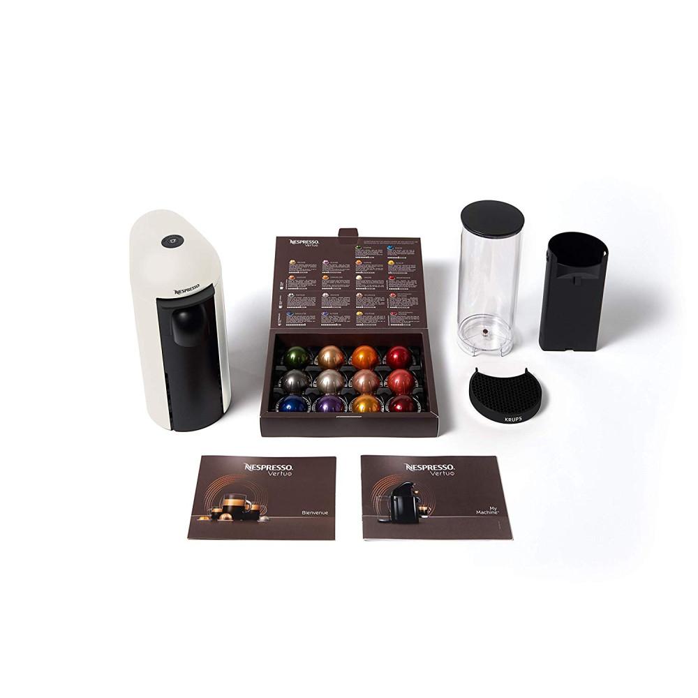 네스프레소 버츄오 플러스 커피 머신 XN9008 Vertuo Plus + 12가지 캡슐 웰컴팩, XN9008 Vertuo Plus 화이트