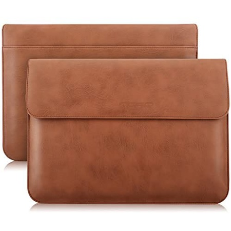 맥북 프로 13인치 2020 PU가죽 파우치 S29 MoKo 13 Inch Laptop Sleeve Case Compatible with MacBook Air, One Color_13 inch, One Color