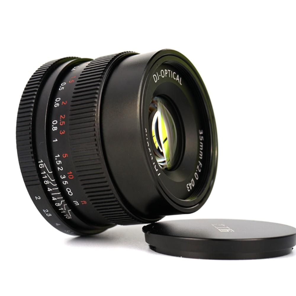 7Artisans 소니 풀 프레임 A7R2 A7M2 A7R4 M3 미러리스 카메라에 적합한 7 명의 장인 35mm F2.0 렌즈, 검정 + 소니 마운트 + 공식 표준