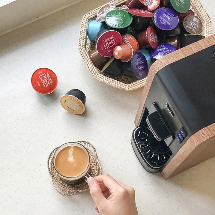 커피비 가정용 커피머신 아떼 우드 네스프레소 돌체구스토 카피탈리 호환 캡슐커피머신 전자동 멀티 캡슐 머신