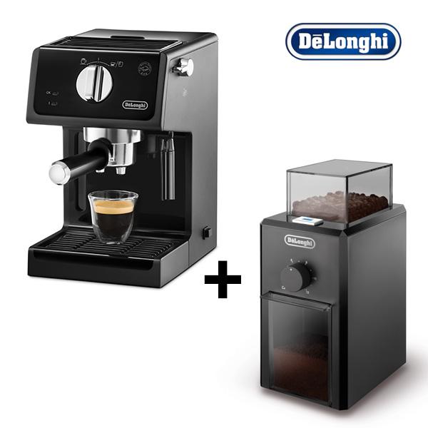 드롱기 반자동 에스프레소 커피머신 ECP31.21 +커피 그라인더 KG79